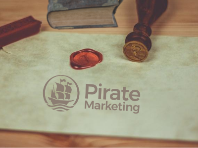 Envelope with Pirate Marketing logo