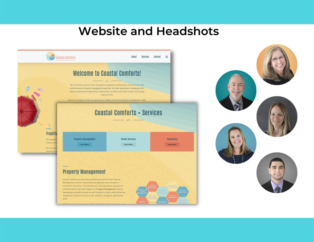 Website and Professional Headshots provided by Pirate Marketing